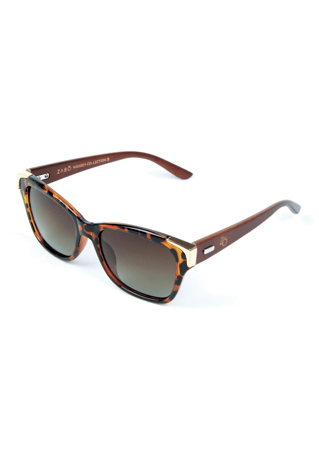 Óculos de Sol Polarizado Zabô Barcelona Tartaruga Lentes Brown