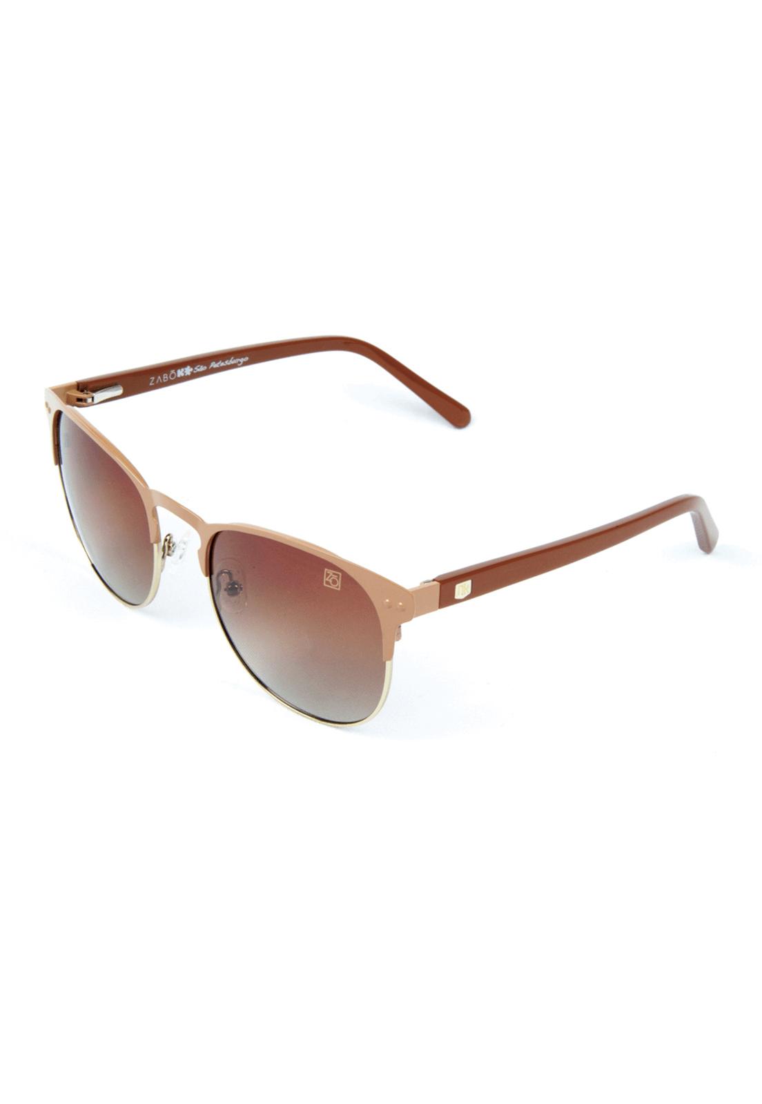 Óculos de Sol Polarizado Zabô São Petesburgo Marrom Lente Brown
