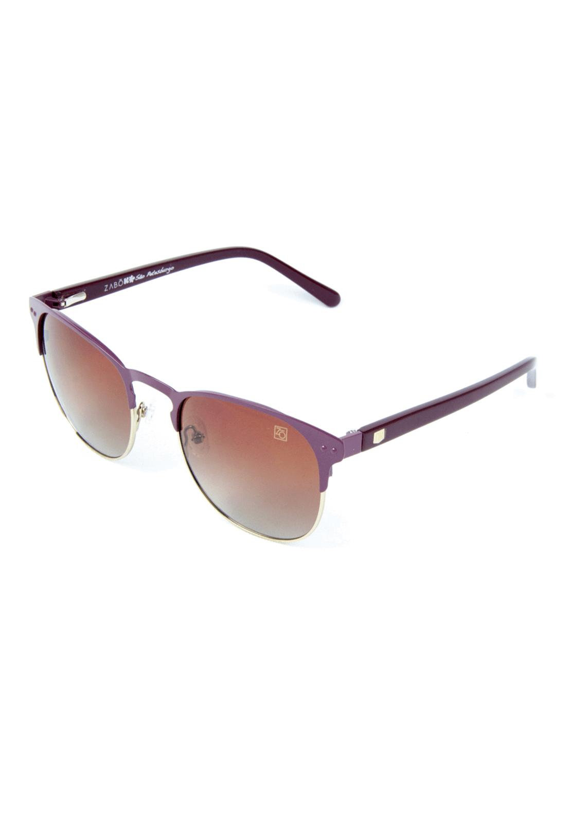 Óculos de Sol Polarizado Zabô São Petesburgo Roxo lente Brown