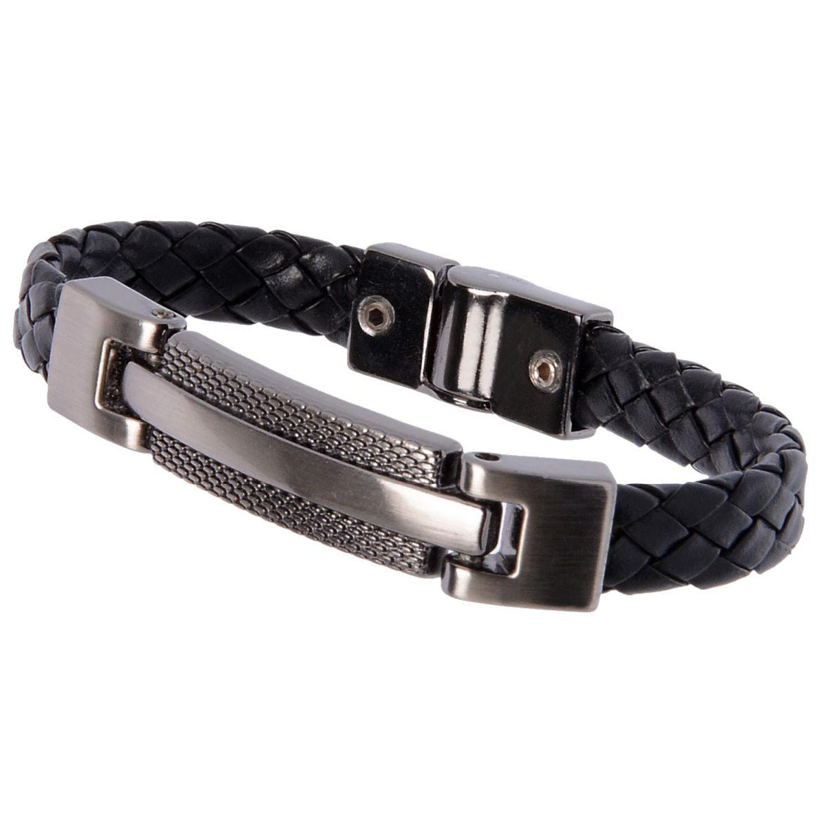 Pulseira Bracelete de Couro Masculina Fallon Motorpsycho