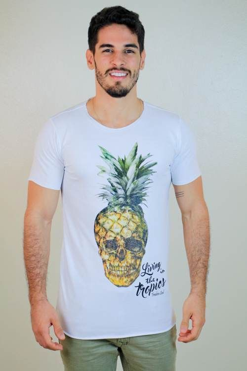 Camiseta Tropical Skull Long (Freedom Soul)