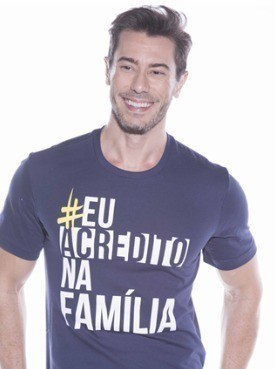 Camiseta Masculina Marka Da Paz - Eu Acredito Na Família 9eca110afaa