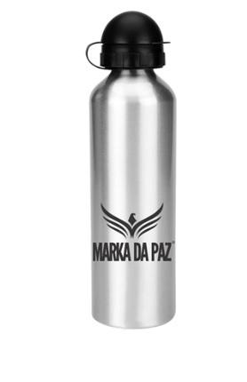 GARRAFA SQUEEZE Marka da Paz - Cor PRATA 41822e5a271