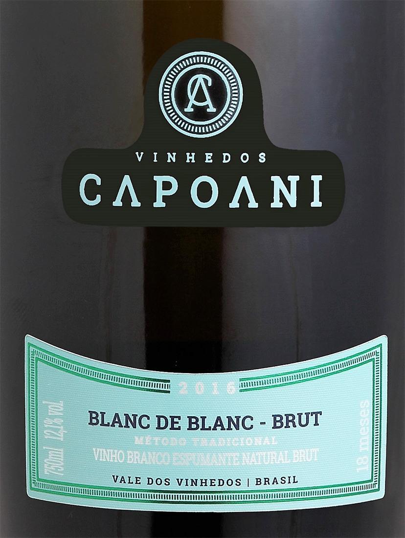 Vinho Espumante Brut BLANC de BLANC  CAPOANI 2016