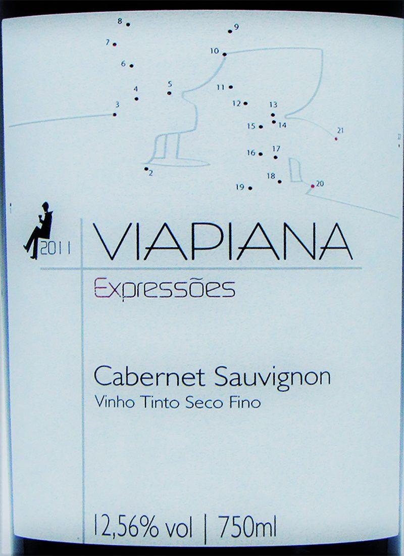 Vinho Tinto Fino CABERNET SAUVIGNON VIAPIANA EXPRESSÕES 2011