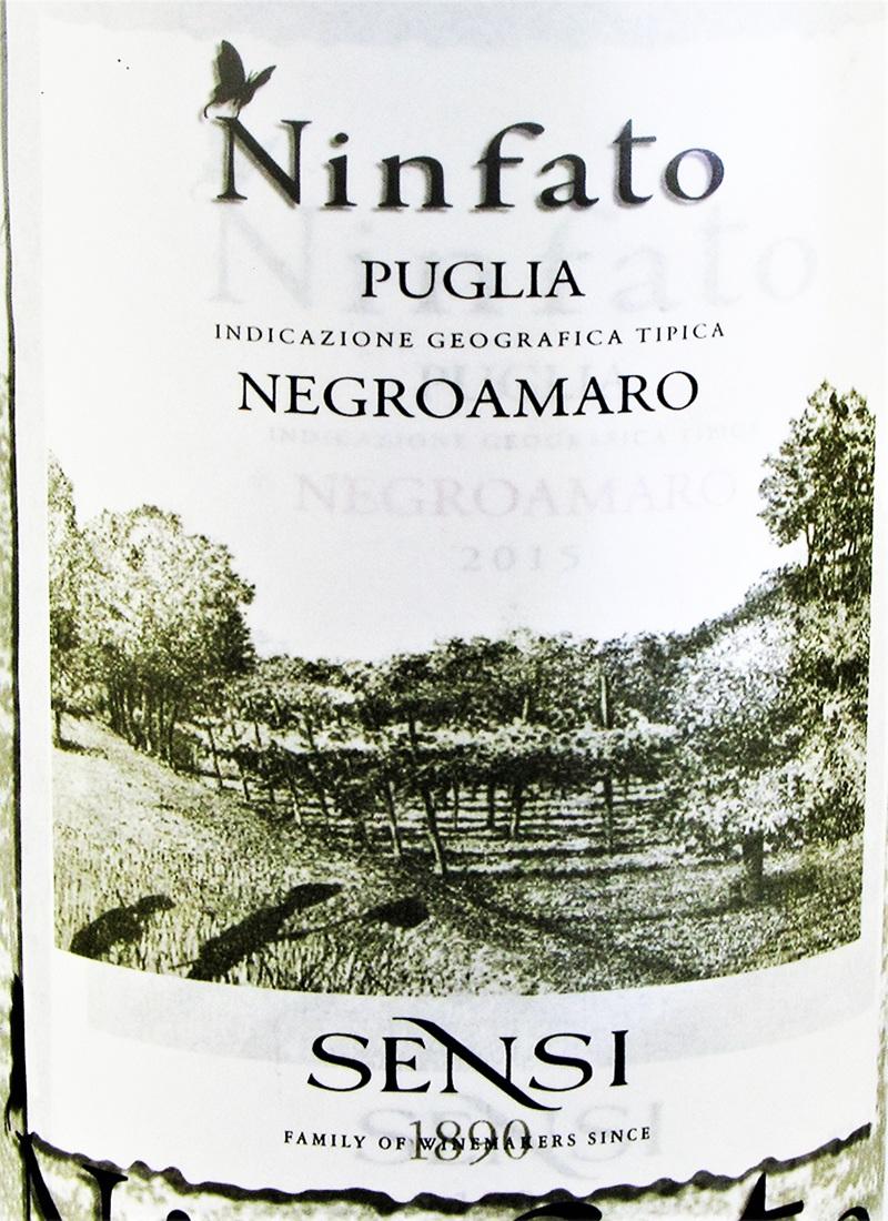Vinho Tinto Fino NEGROAMARO NINFATO PUGLIA