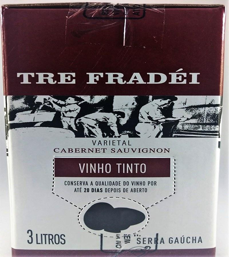 Vinho Tinto Fino BAG IN BOX CABERNET SAUVIGNON 3L