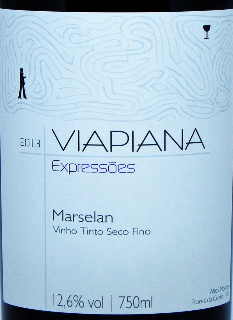 Vinho Tinto Fino MARSELAN VIAPIANA 2013