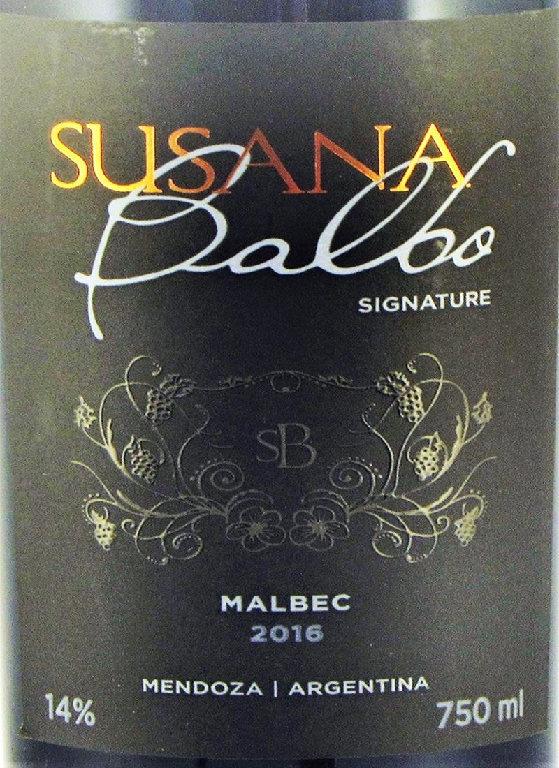 Vinho Tinto Fino MALBEC SIGNATURE SUSANA BALBO