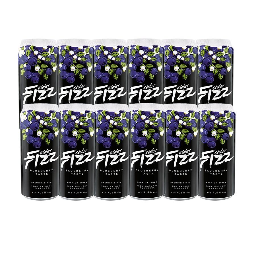 Sidra Fizz Premium Pack 12 latas de 500 ml Sabor BlueBerry