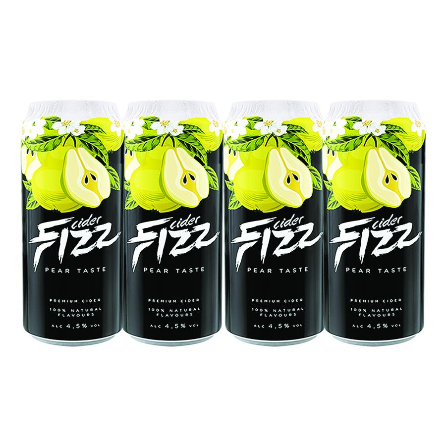 Sidra Fizz Premium Pack 4 latas de 500 ml Sabor Pera