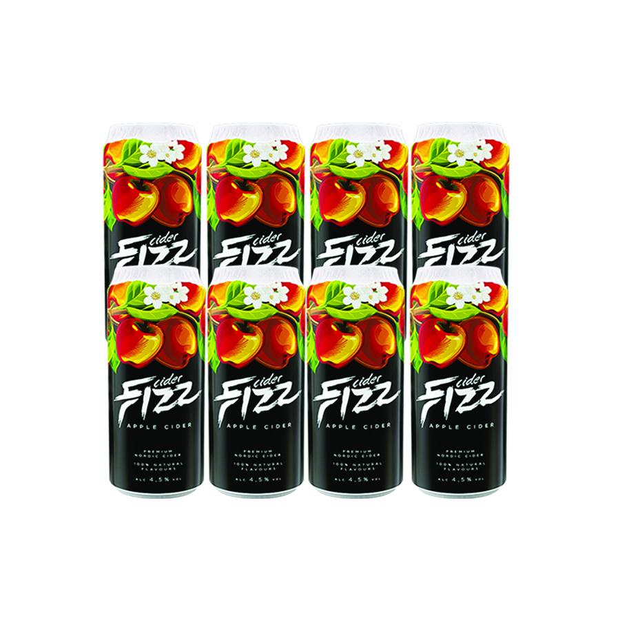 Sidra Fizz Premium Pack 8 latas de 500 ml Sabor Maçã