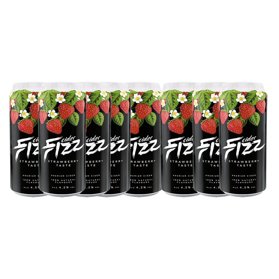 Sidra Fizz Premium Pack 8 latas de 500 ml Sabor Morango