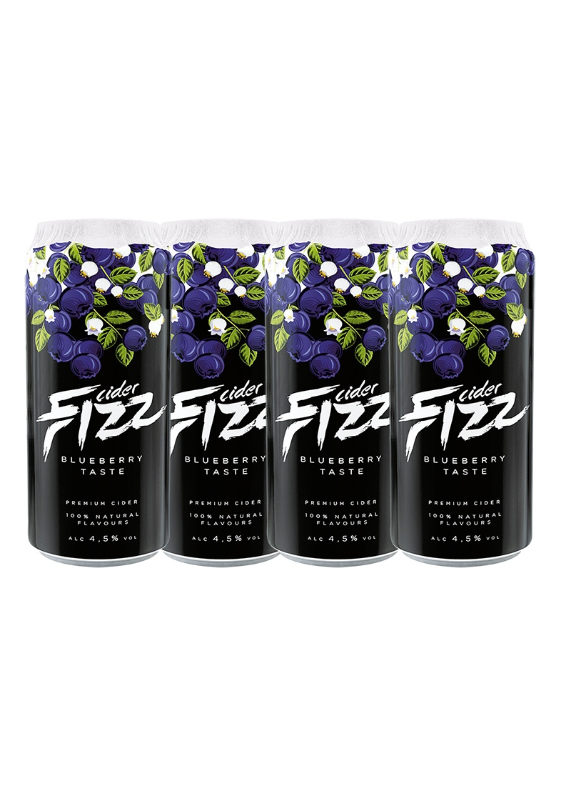 Sidra Fizz Premium Pack 4 latas de 500 ml Sabor BlueBerry