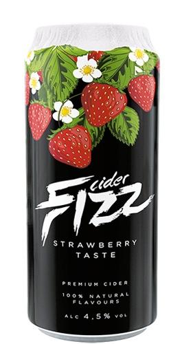 Sidra Fizz Premium sabor Morango lata 500 ml