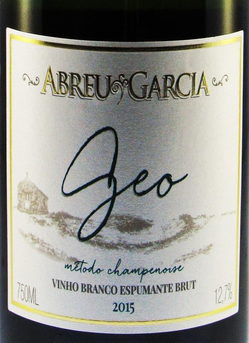 Vinho Branco Espumante Fino BRUT GEO VERMENTINO ABREU GARCIA 2015