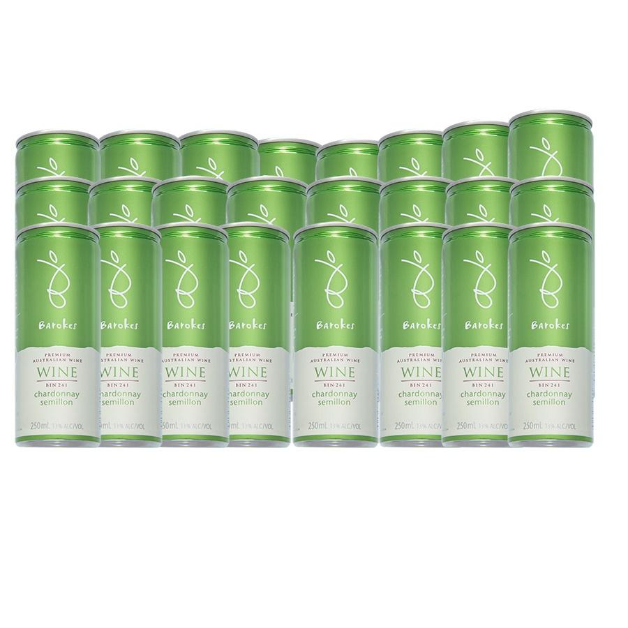Vinho Branco Premium Australiano Barokes Pack Promo 24 latas de 250 ml