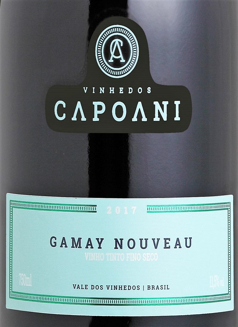 Vinho Tinto Fino Seco GAMAY NOUVEAU CAPOANI 2017