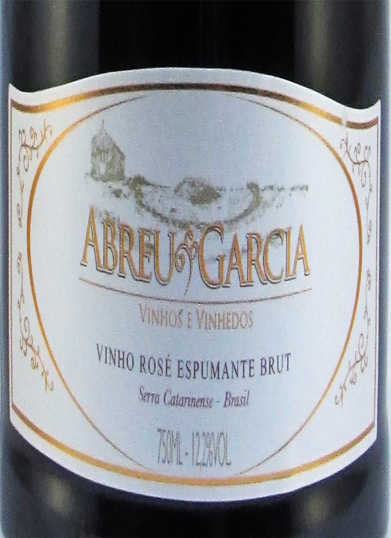 Vinho Rose Espumante BRUT ABREU GARCIA