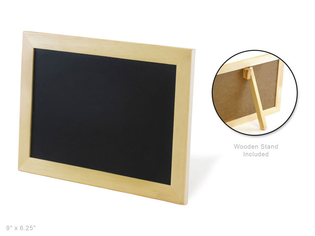 Wood Craft 9x625 Natural Diy Chalkboard Frame Wstand