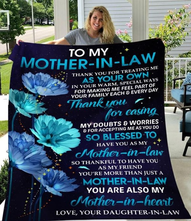 Flowers Daughter In Law To My Mother In Law You Are Also My Mother In Heart Poster No Frame/ Framed Canvas Wall Decor