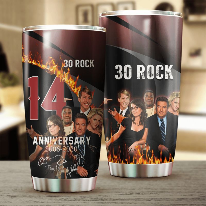 30 Rock 14 Anniversary Characters Signatures 20oz Stainless Steel Tumbler