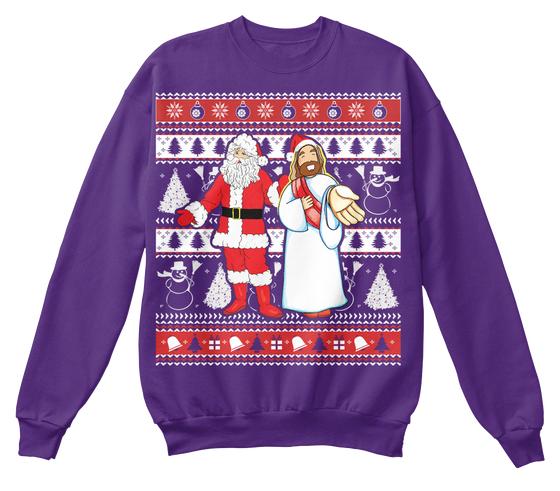 Santa and Jesus Ugly Christmas Sweater