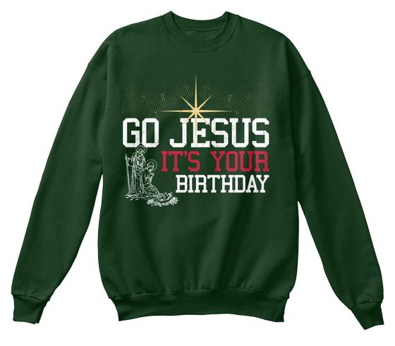Jesus Birthday Christmas Sweatshirt