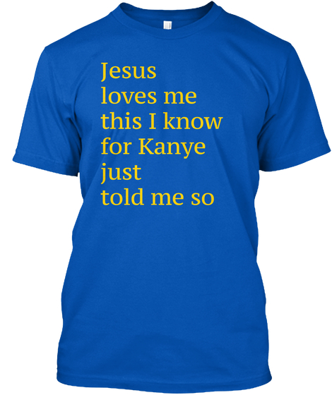 'Jesus loves me' tee