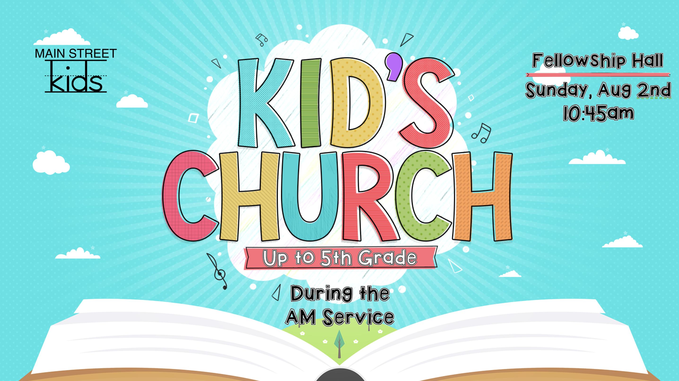 KidsChurch Aug2nd