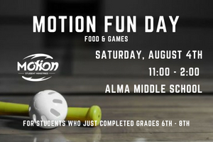 motion fun events graphic website