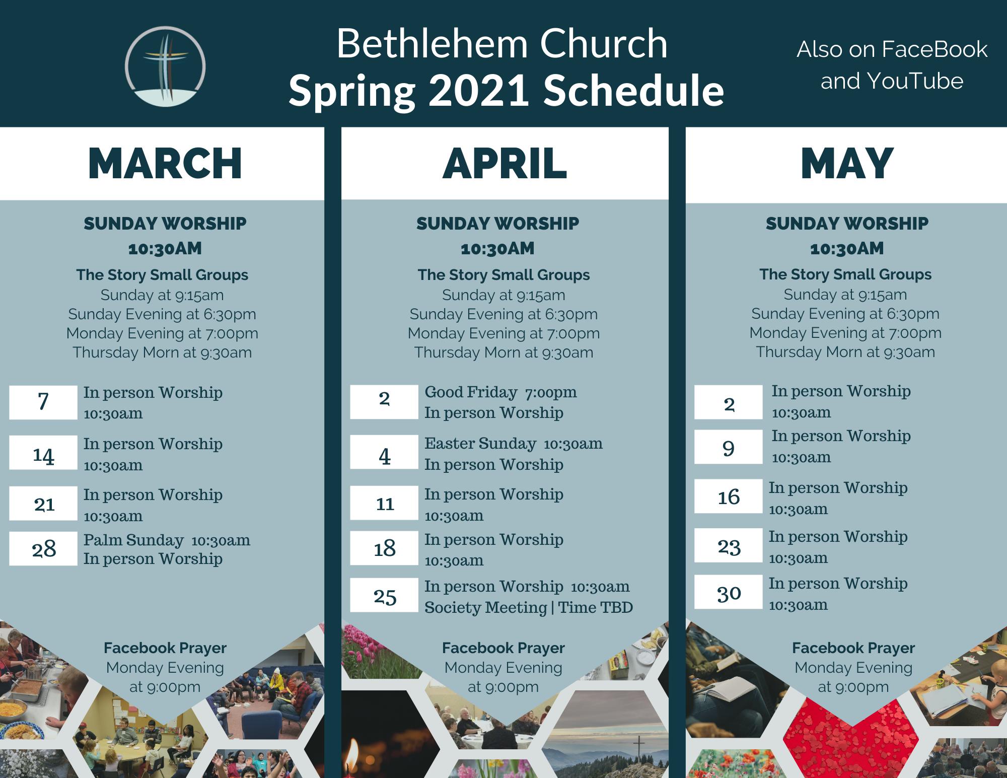 Seasonal Calendar Spring 21
