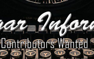 Cigar Informer Contributors Wanted