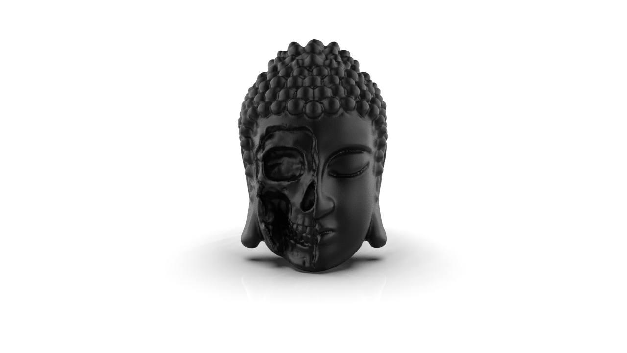 Anel Buddha Skull