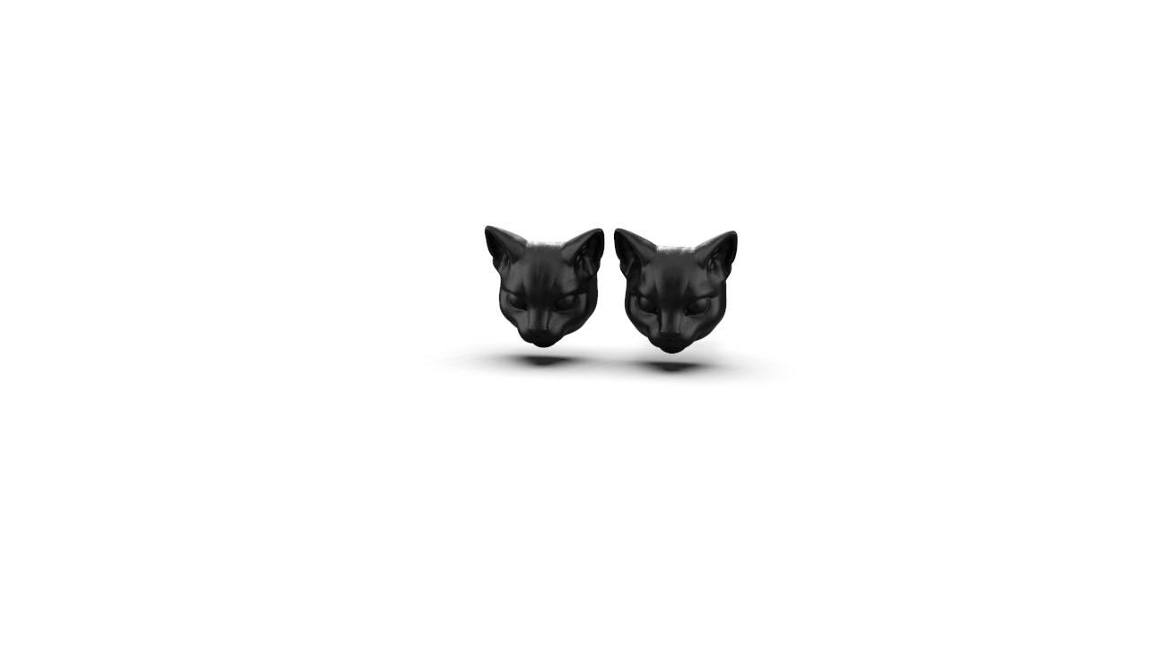 Brincos Cat Head