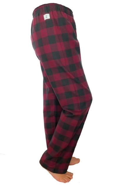 Calça de Pijama em Flanela Vinho
