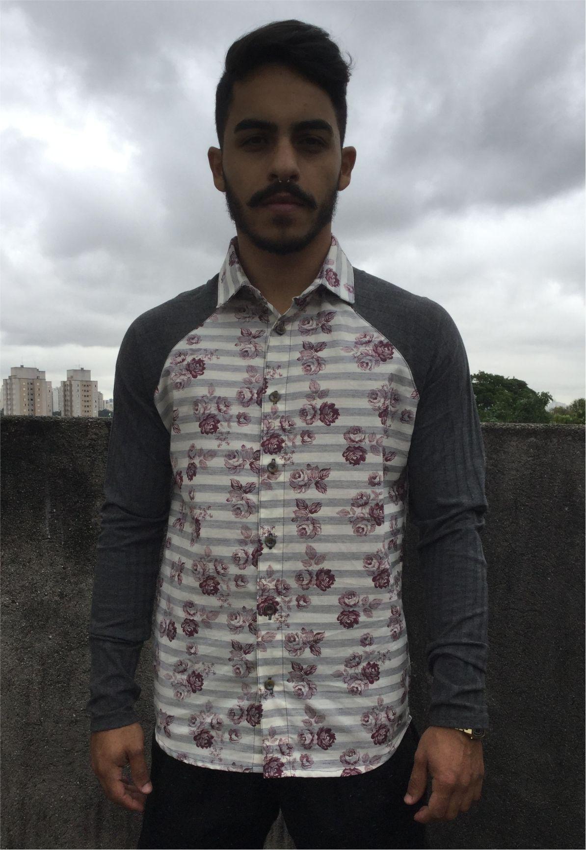 Camisa Raglan Floral