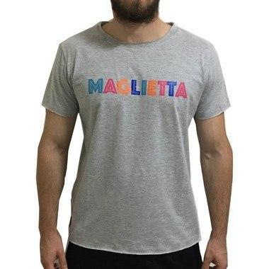 Camiseta Color Cinza Maglietta