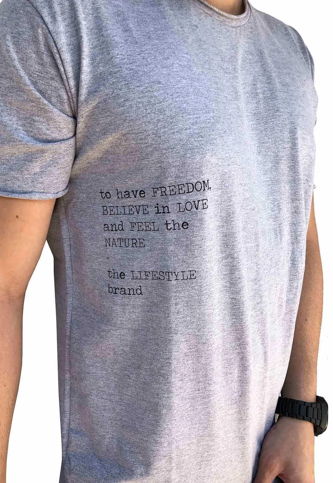 Camiseta Lettering Gray Outstanding