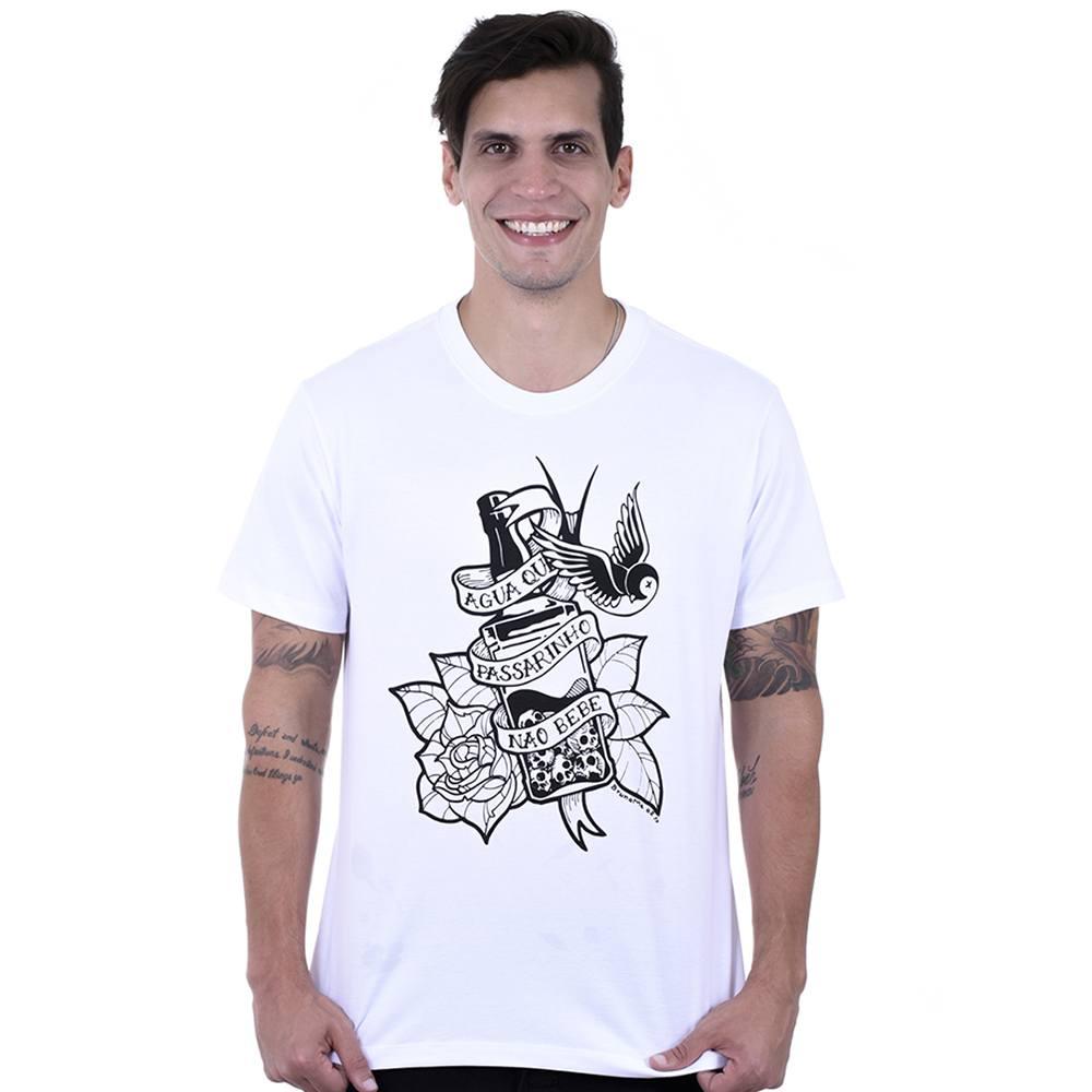 Camiseta Masculina Estampada Água que Passarinho Não Bebe Hardivision