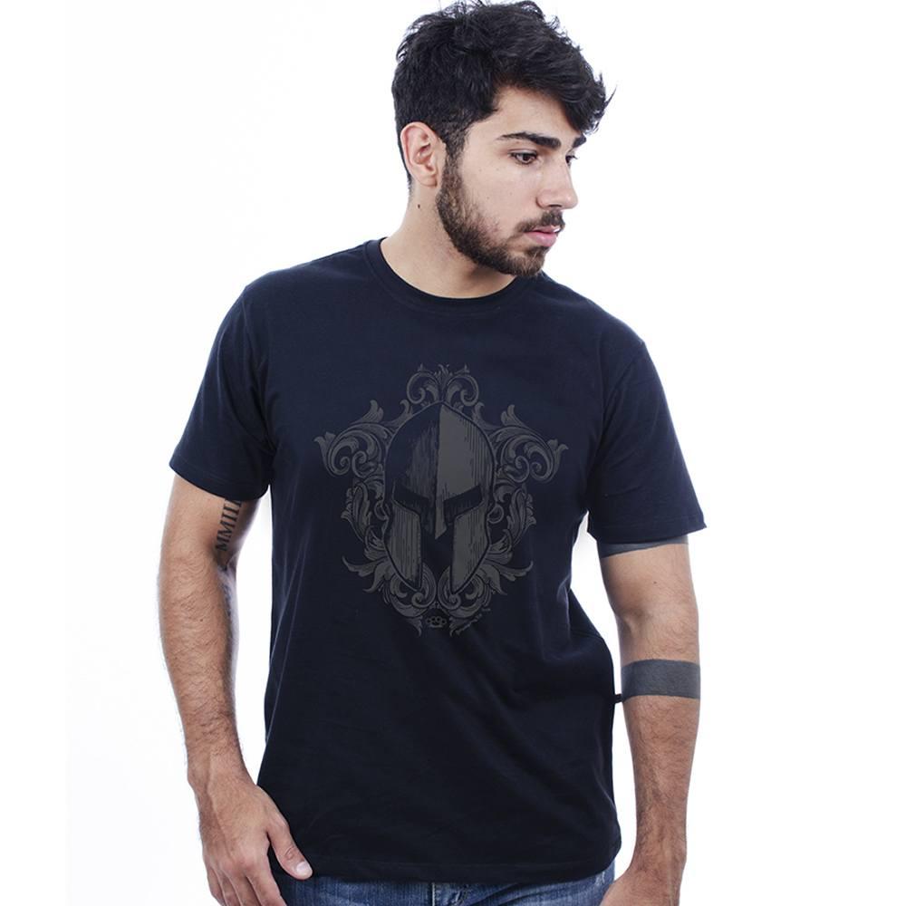 Camiseta masculina estampada manga curta Elmo Corrosão Preto Hardivision