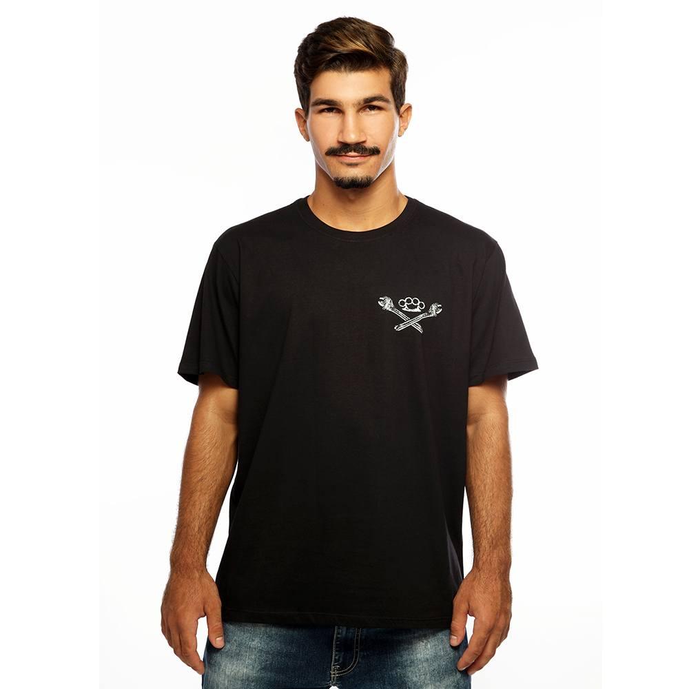 Camiseta Masculina Estampada Mechanics Preto Hardivision