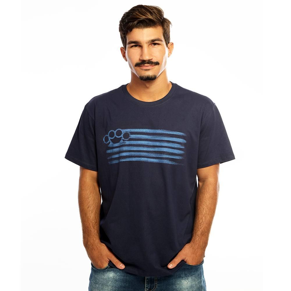 Camiseta Masculina Estampada Punch Azul Hardivision