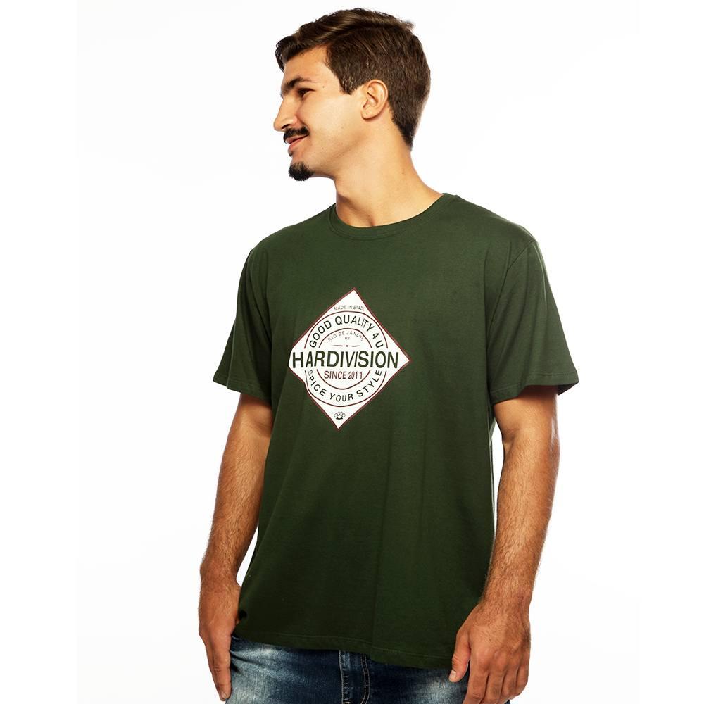 Camiseta Masculina Estampada Spice Verde Hardivision a497d2a208d14