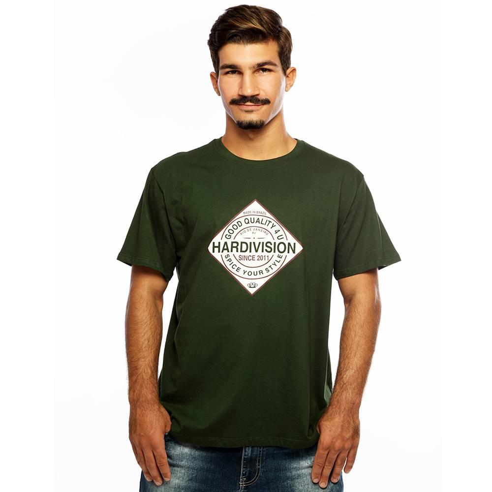 Camiseta Masculina Estampada Spice Verde Hardivision
