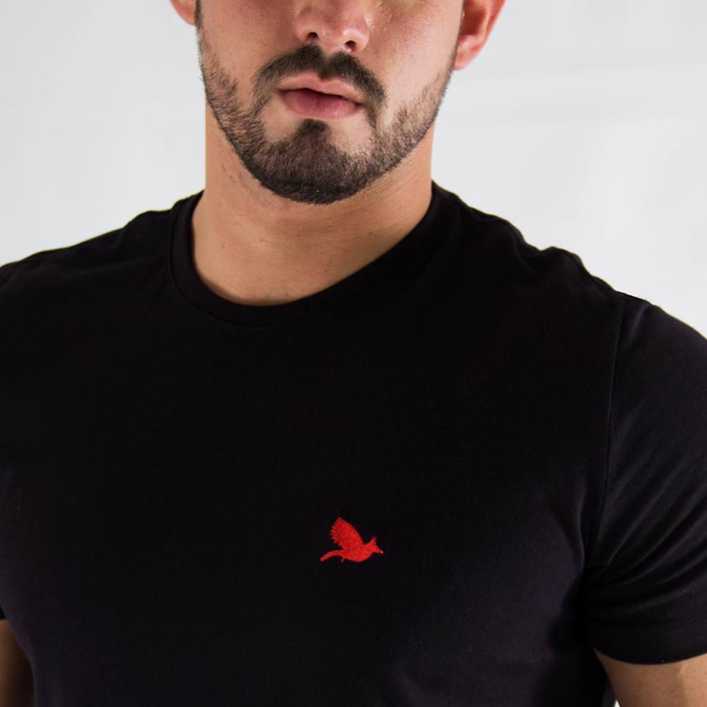 Camiseta Off Peak Básica Preta Bordada