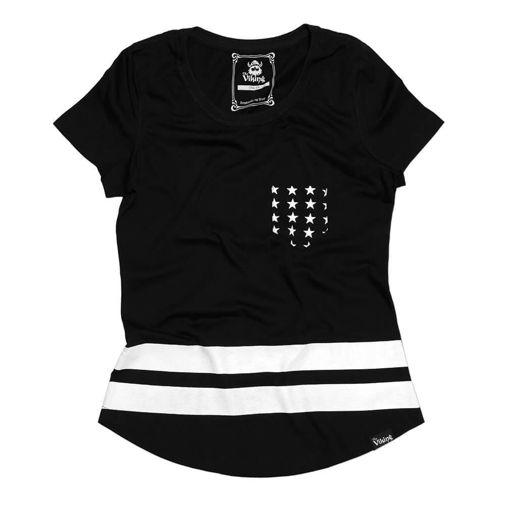 Camiseta Slim Estrela Bolso