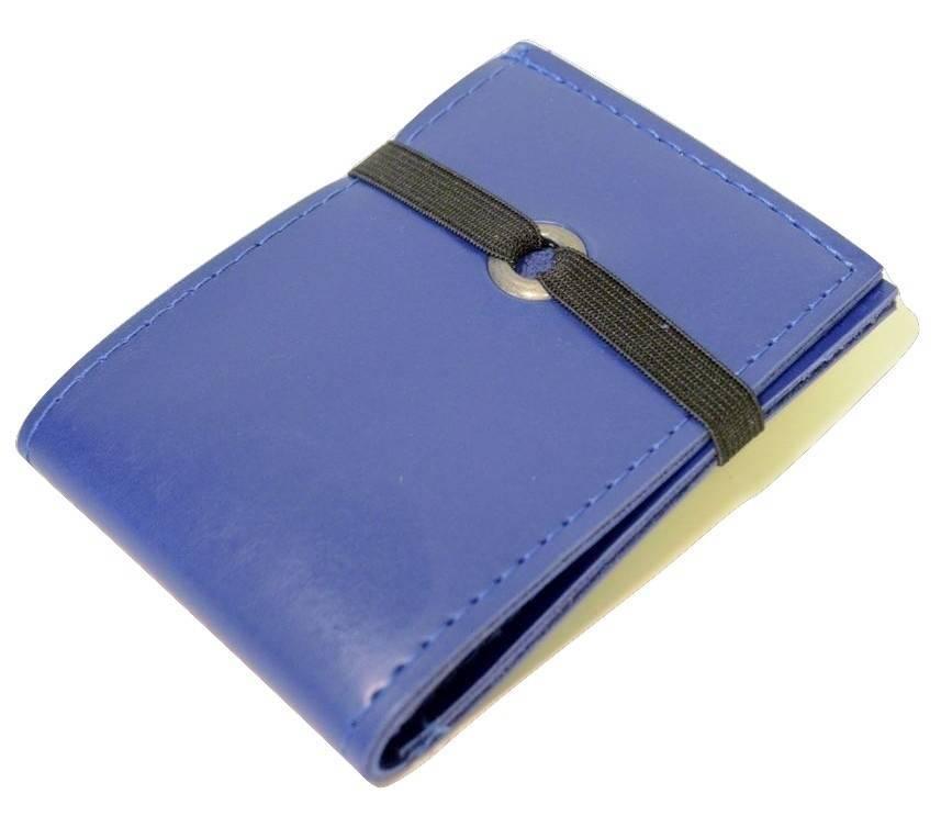 Carteira elástico azul