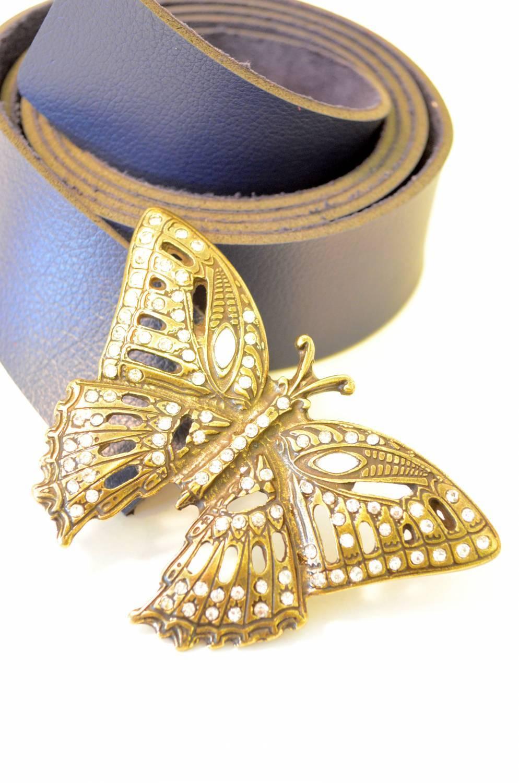 Cinto feminino fivela borboleta