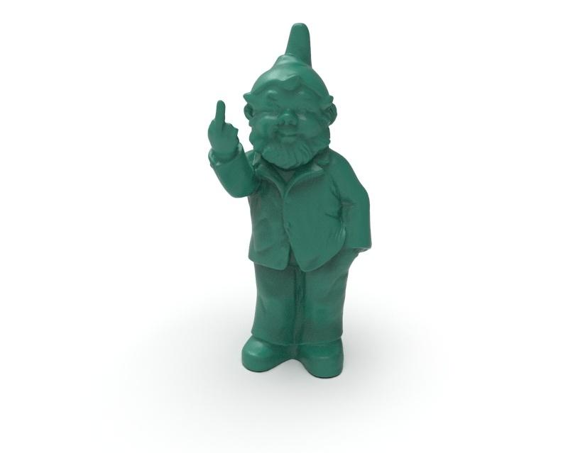 Escultura Rude Gnome